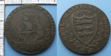 1794 - deal half penny token - Velká Británie, The Guard Glory of G.Britain