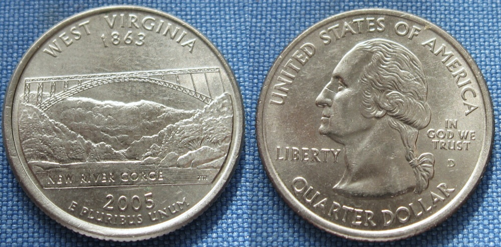 2005 D - quarter dollar - West Virginia