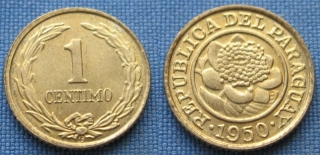 1950 - 1 centimo - Paraguay